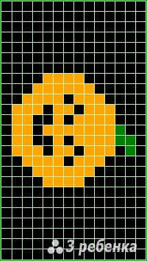 Схема фенечки прямым плетением 18611