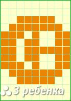 Схема фенечки прямым плетением 18923
