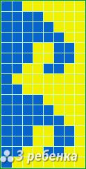 Схема фенечки прямым плетением 18606