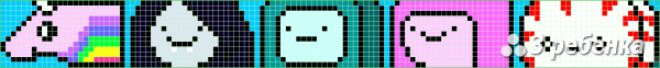 Схема фенечки прямым плетением 19265