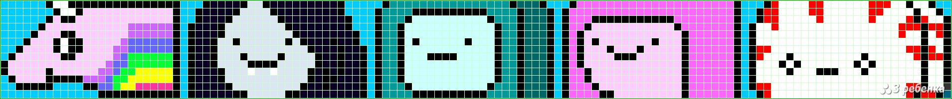 Схемы для прямого плетения фенечек время приключений
