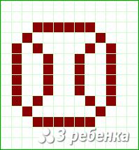 Схема фенечки прямым плетением 19294