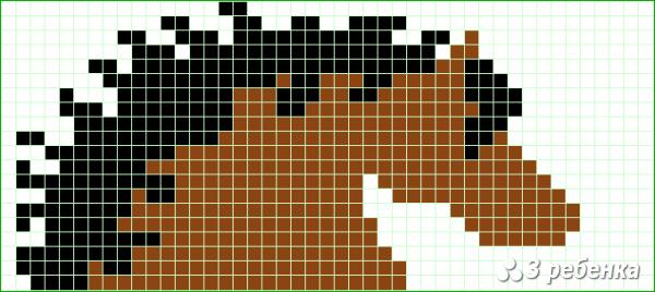 Схема фенечки прямым плетением 18902