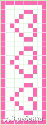 Схема фенечки прямым плетением 18637