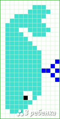 Схема фенечки прямым плетением 18681