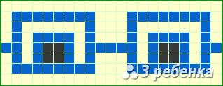 Схема фенечки прямым плетением 19300