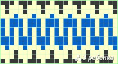 Схема фенечки прямым плетением 19279