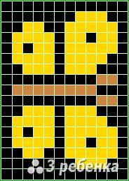 Схема фенечки прямым плетением 18596