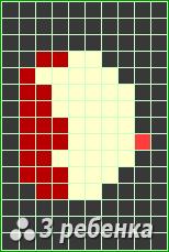 Схема фенечки прямым плетением 19289