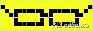 Схема фенечки прямым плетением 18664