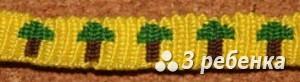 Схема фенечки прямым плетением 20142