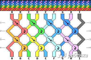 Схема фенечки 19526