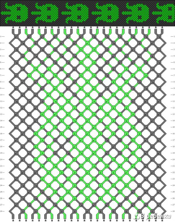 Схема фенечки 19619