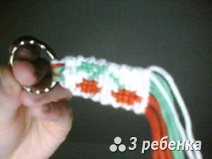 Схема фенечки прямым плетением 19940