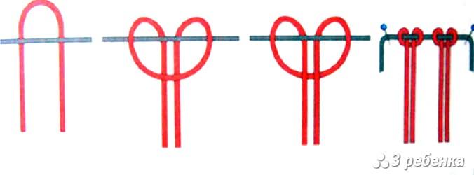 Как сделать петельку на фенечке прямого плетения