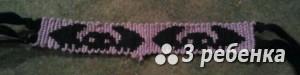 Схема фенечки прямым плетением 19967