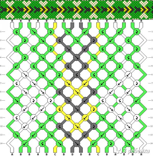 Схема фенечки 19502