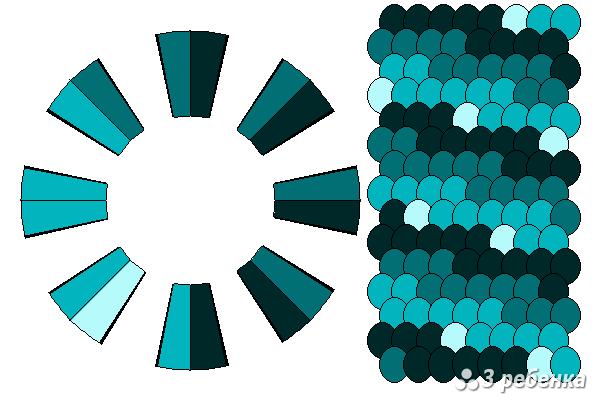 Схема фенечки кумихимо 20572