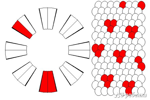 Схема фенечки кумихимо 20568
