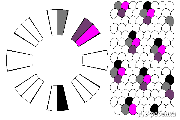 Схема фенечки кумихимо 20564