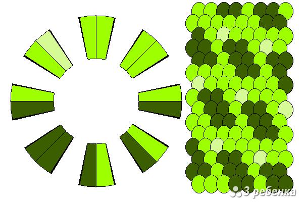 Схема фенечки кумихимо 20560