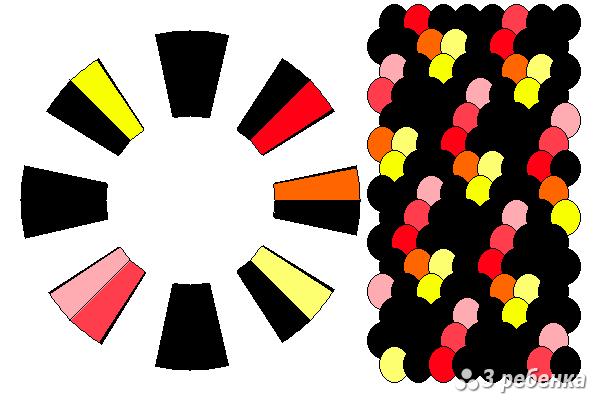 Схема фенечки кумихимо 20556