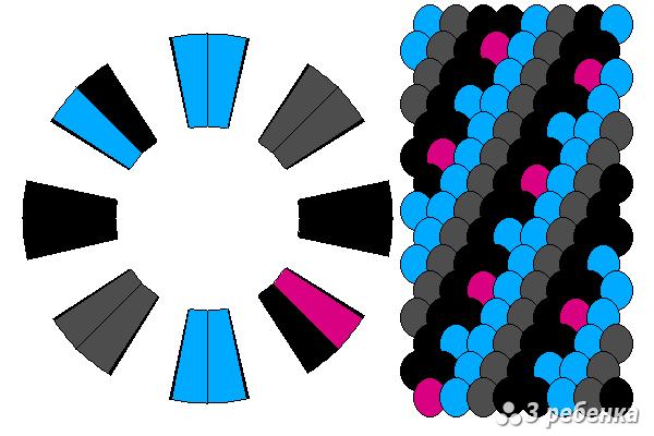 Схема фенечки кумихимо 20552