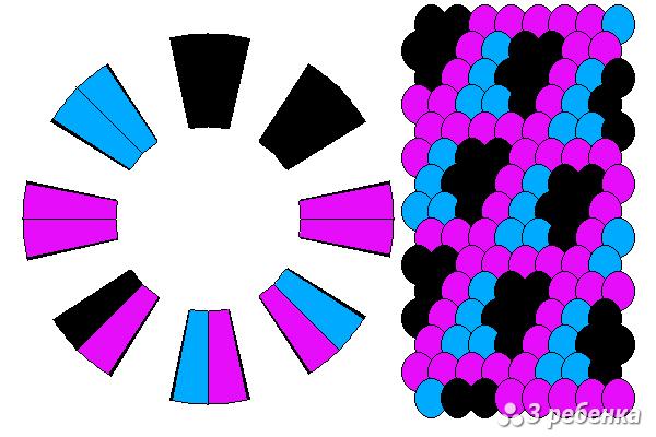Схема фенечки кумихимо 20548