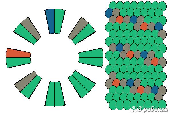 Схема фенечки кумихимо 20544