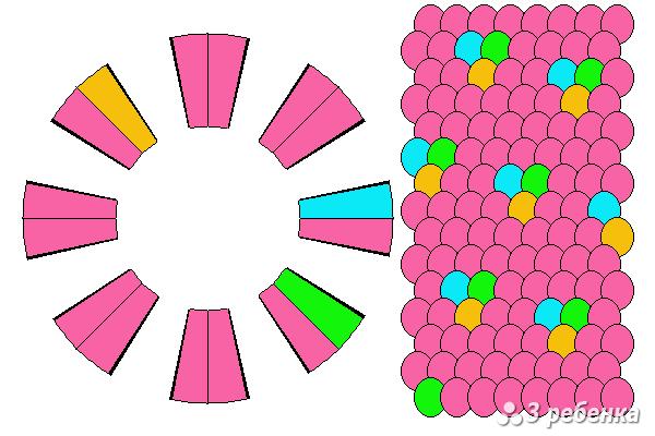 Схема фенечки кумихимо 20539
