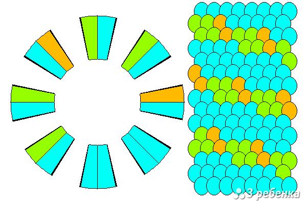 Схема фенечки кумихимо 20535