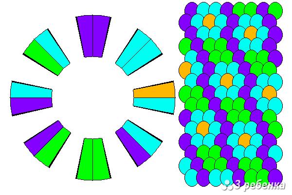 Схема фенечки кумихимо 20530