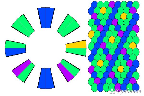 Схема фенечки кумихимо 20521