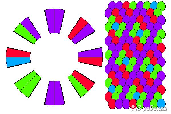 Схема фенечки кумихимо 20517
