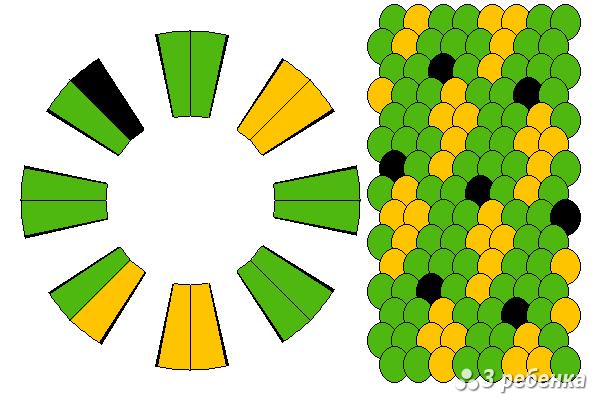 Схема бананов кумихимо