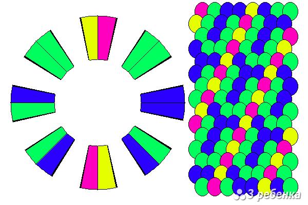 Схема фенечки кумихимо 20505