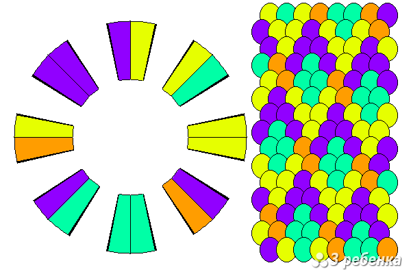 Схема фенечки кумихимо 20501