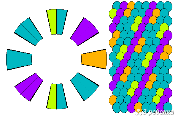 Схема фенечки кумихимо 20496
