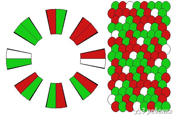 Схема фенечки кумихимо 20492