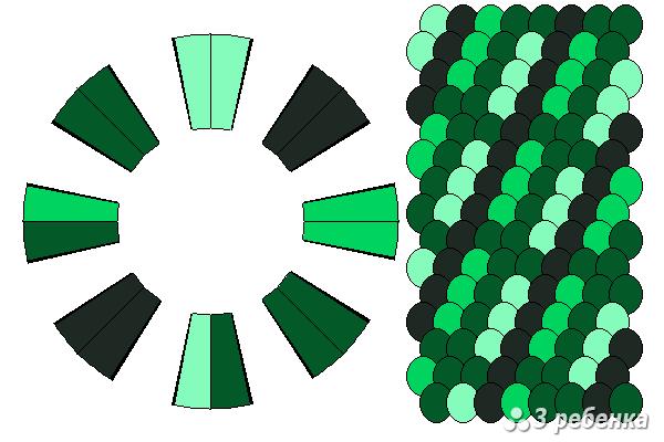 Схема фенечки кумихимо 20488