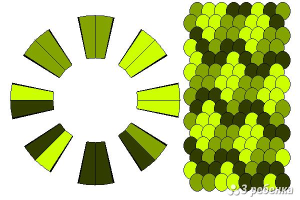 Схема фенечки кумихимо 20484