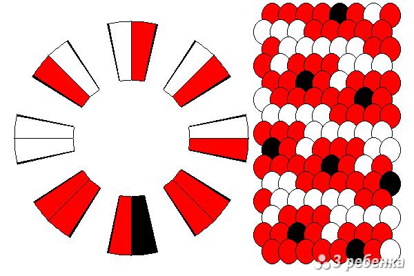Схема фенечки кумихимо 20480