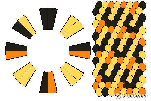 Схема фенечки кумихимо 20476