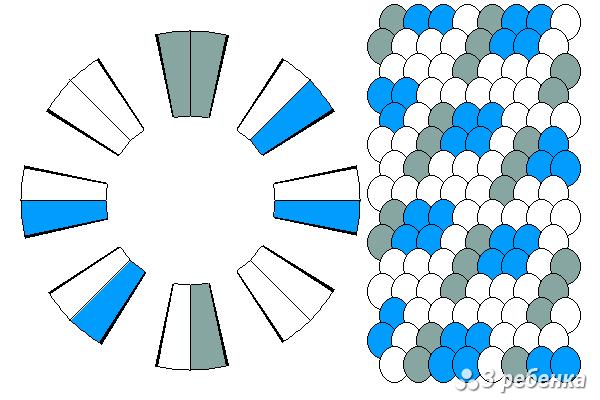 Схема фенечки кумихимо 20472