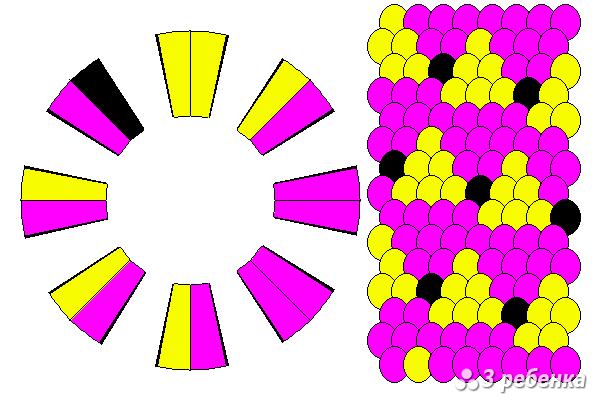 Схема фенечки кумихимо 20468