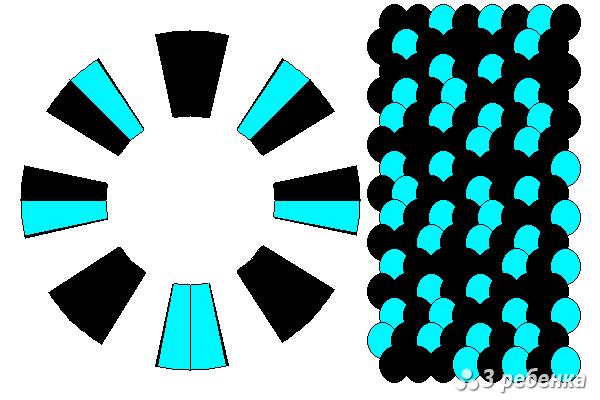 Схема фенечки кумихимо 20464