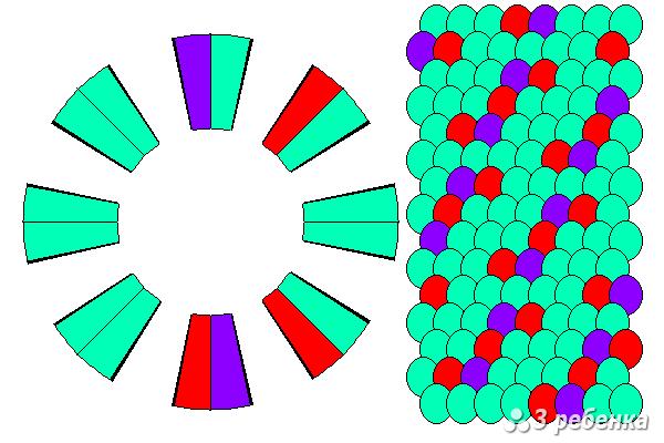 Схема фенечки кумихимо 20460