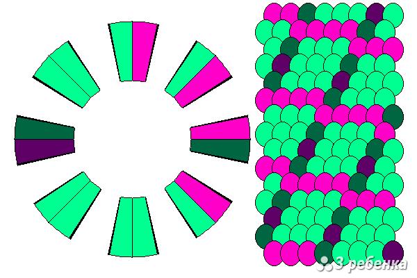 Схема фенечки кумихимо 20456