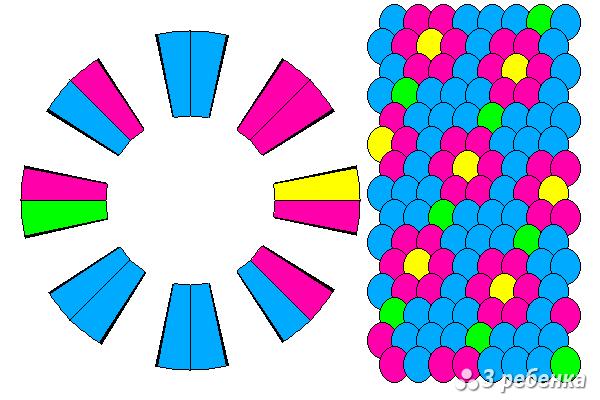Схема фенечки кумихимо 20447