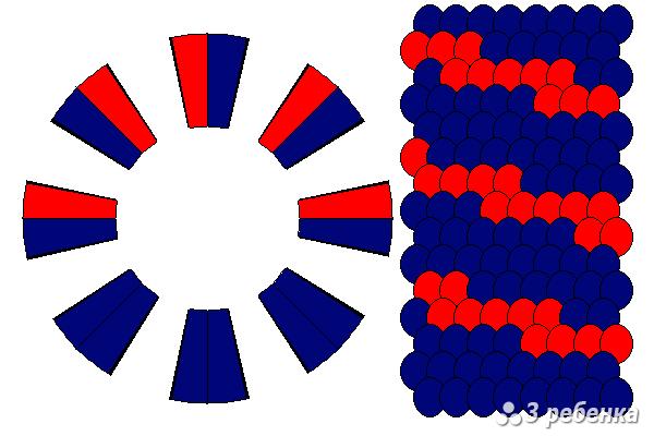 Схема фенечки кумихимо 20439